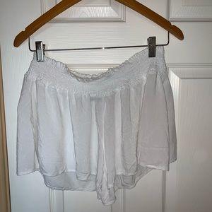 Brandy Melville white flowy shorts